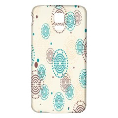 Small Circle Blue Brown Samsung Galaxy S5 Back Case (White)