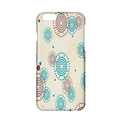 Small Circle Blue Brown Apple Iphone 6/6s Hardshell Case