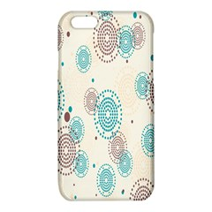 Small Circle Blue Brown iPhone 6/6S TPU Case