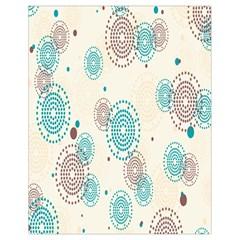 Small Circle Blue Brown Drawstring Bag (Small)