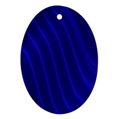 Sparkly Design Blue Wave Abstract Ornament (Oval)