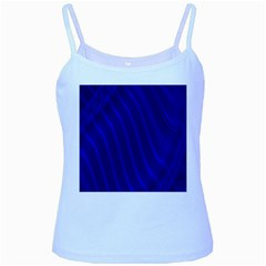 Sparkly Design Blue Wave Abstract Baby Blue Spaghetti Tank