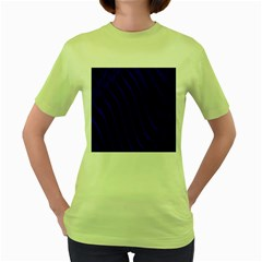Sparkly Design Blue Wave Abstract Women s Green T-Shirt