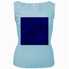 Sparkly Design Blue Wave Abstract Women s Baby Blue Tank Top