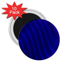 Sparkly Design Blue Wave Abstract 2.25  Magnets (10 pack)