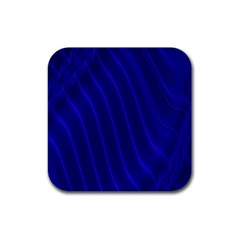 Sparkly Design Blue Wave Abstract Rubber Coaster (Square)