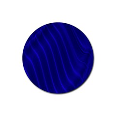Sparkly Design Blue Wave Abstract Rubber Round Coaster (4 pack)