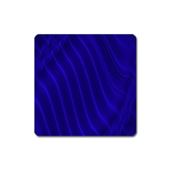 Sparkly Design Blue Wave Abstract Square Magnet