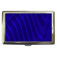 Sparkly Design Blue Wave Abstract Cigarette Money Cases