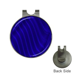 Sparkly Design Blue Wave Abstract Hat Clips with Golf Markers