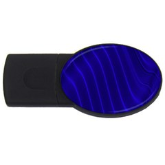 Sparkly Design Blue Wave Abstract USB Flash Drive Oval (4 GB)