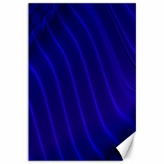 Sparkly Design Blue Wave Abstract Canvas 12  x 18