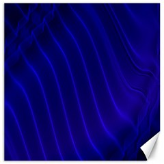 Sparkly Design Blue Wave Abstract Canvas 16  x 16