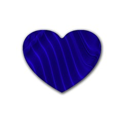 Sparkly Design Blue Wave Abstract Rubber Coaster (Heart)