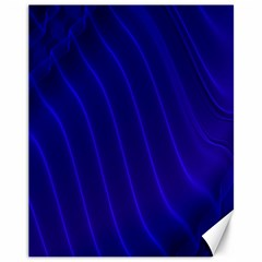 Sparkly Design Blue Wave Abstract Canvas 11  x 14