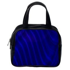 Sparkly Design Blue Wave Abstract Classic Handbags (One Side)