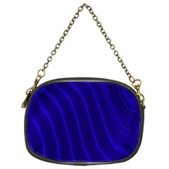 Sparkly Design Blue Wave Abstract Chain Purses (One Side)