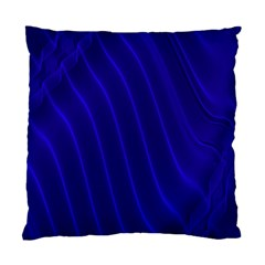 Sparkly Design Blue Wave Abstract Standard Cushion Case (Two Sides)