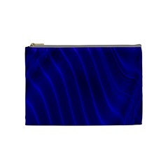 Sparkly Design Blue Wave Abstract Cosmetic Bag (Medium)