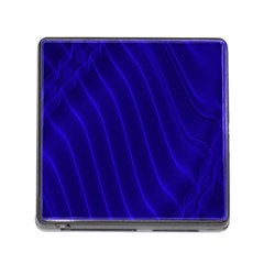 Sparkly Design Blue Wave Abstract Memory Card Reader (Square)