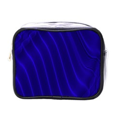 Sparkly Design Blue Wave Abstract Mini Toiletries Bags