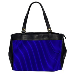 Sparkly Design Blue Wave Abstract Office Handbags (2 Sides)