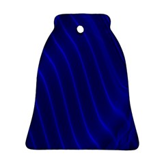 Sparkly Design Blue Wave Abstract Bell Ornament (Two Sides)