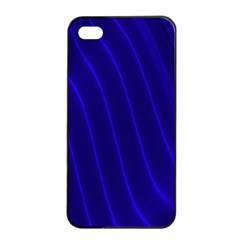 Sparkly Design Blue Wave Abstract Apple iPhone 4/4s Seamless Case (Black)