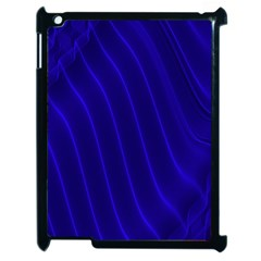 Sparkly Design Blue Wave Abstract Apple iPad 2 Case (Black)
