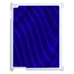Sparkly Design Blue Wave Abstract Apple iPad 2 Case (White)