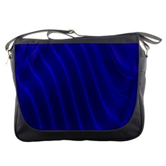 Sparkly Design Blue Wave Abstract Messenger Bags