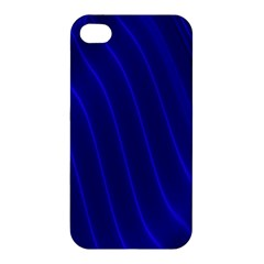 Sparkly Design Blue Wave Abstract Apple iPhone 4/4S Premium Hardshell Case