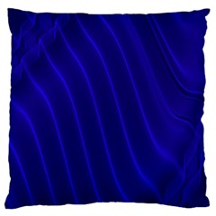Sparkly Design Blue Wave Abstract Large Cushion Case (Two Sides)