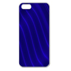 Sparkly Design Blue Wave Abstract Apple Seamless iPhone 5 Case (Clear)