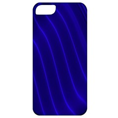 Sparkly Design Blue Wave Abstract Apple iPhone 5 Classic Hardshell Case