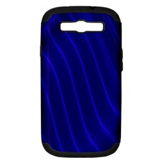 Sparkly Design Blue Wave Abstract Samsung Galaxy S III Hardshell Case (PC+Silicone)