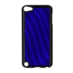 Sparkly Design Blue Wave Abstract Apple iPod Touch 5 Case (Black)