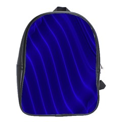 Sparkly Design Blue Wave Abstract School Bags (XL)