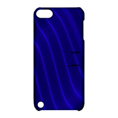 Sparkly Design Blue Wave Abstract Apple iPod Touch 5 Hardshell Case with Stand