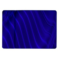 Sparkly Design Blue Wave Abstract Samsung Galaxy Tab 10.1  P7500 Flip Case