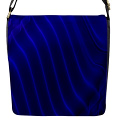 Sparkly Design Blue Wave Abstract Flap Messenger Bag (S)