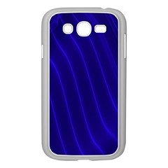 Sparkly Design Blue Wave Abstract Samsung Galaxy Grand DUOS I9082 Case (White)