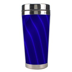 Sparkly Design Blue Wave Abstract Stainless Steel Travel Tumblers
