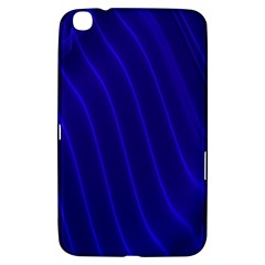 Sparkly Design Blue Wave Abstract Samsung Galaxy Tab 3 (8 ) T3100 Hardshell Case