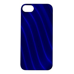 Sparkly Design Blue Wave Abstract Apple iPhone 5S/ SE Hardshell Case
