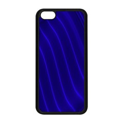 Sparkly Design Blue Wave Abstract Apple iPhone 5C Seamless Case (Black)