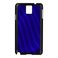 Sparkly Design Blue Wave Abstract Samsung Galaxy Note 3 N9005 Case (Black)
