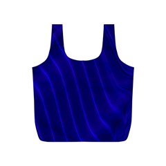 Sparkly Design Blue Wave Abstract Full Print Recycle Bags (S)