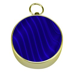 Sparkly Design Blue Wave Abstract Gold Compasses