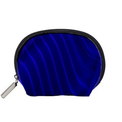 Sparkly Design Blue Wave Abstract Accessory Pouches (Small)